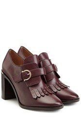 Salvatore Ferragamo Fringed Leather Heeled Boots Red