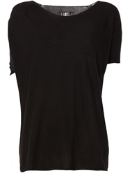 Lost And Found Mesh Cut Out Detail Top Black