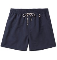 Loro Piana Mid Length Swim Shorts Navy