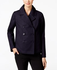 Charter Club Cropped Trench Coat Only At Macy's Deepest Navy