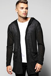 Boohoo Lightweight Cardigan With Pockets Black
