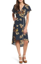 Leith Floral Wrap Dress Navy Peacoat Florence Floral