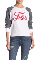 Wildfox Couture Teddy Fatale Sweatshirt Clean White Clean Black