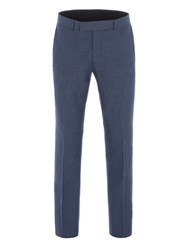 Limehaus Men's Brightwell Blue Jaspe Slim Fit Trousers Blue