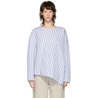 Toteme Blue And White Stripe Moulins Blouse
