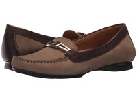 Naturalizer Saturday Truffle Taupe Nubuck Oxford Leather Women's Shoes Brown