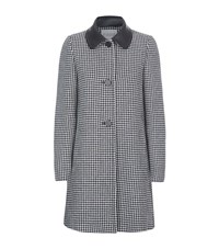 Claudie Pierlot Geo Dogtooth Coat Female Grey