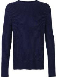 Ovadia And Sons Side Zip Crewneck Blue