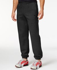 Puma Cuffed Fleece Drawstring Pants Dark Grey Heather
