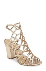 Vince Camuto Women's Naveen Cage Sandal Egyptian Gold Nappa Leather
