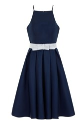 Chi Chi London Strappy Fit And Flare Prom Dress Navy
