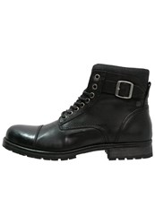 Jack And Jones Jfwalbany Laceup Boots Black