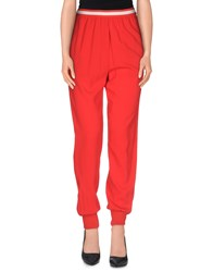 Jucca Trousers Casual Trousers Women Red