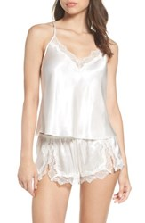 In Bloom By Jonquil Women's Satin Short Pajamas Off White