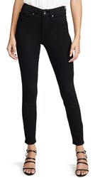 Good American Legs Cropped Jeans Black001