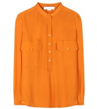 Stella Mccartney Estelle Silk Blouse Orange