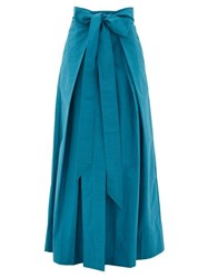 Kalita Avendon Tie Waist Cotton Maxi Skirt Green