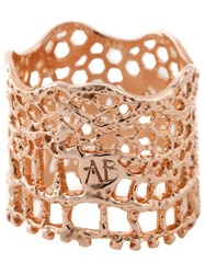 Aurelie Bidermann 'Vintage Lace' Ring Metallic