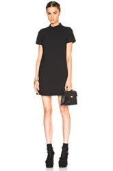 Red Valentino Scalloped Color Block Dress In Black