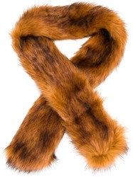 Hope Furred Scarf Brown