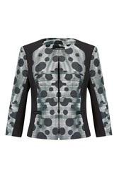 James Lakeland Dots Print Jacket Grey