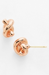 Kate Spade 'Sailors Knot' Mini Stud Earrings Rose Gold