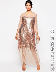 Lovedrobe Sheer Sequin Maxi Dress Multi
