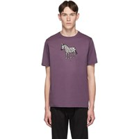 Paul Smith Ps By Ssense Exclusive Purple Zebra Regular Fit T Shirt 54Auber