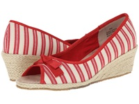 Fitzwell Regina Natural Red Fabric Stripe Women's Shoes