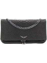 Zadig And Voltaire Crossbody Clutch Bag Black