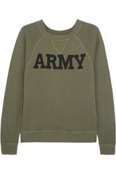 Nlst Army Cotton Terry Sweatshirt Army Green