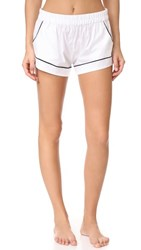 Maison Du Soir Jane Pj Shorts White