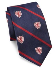 Polo Ralph Lauren Madison Crested Tie Navy Red