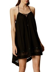 Karen Millen Lace Up Strappy Summer Dress Black