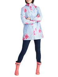 Joules Right As Rain Golightly Pack Away Waterproof Parka Sky Blue Orchid