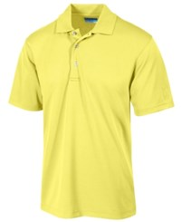 Pga Tour Men's Airflux Solid Golf Polo Shirt Pale Banana
