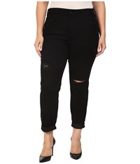Nydj Plus Size Sylvia Relaxed Boyfriend Jeans In Future Fit Denim In Bloomsbury Destruction Bloomsbury Destruction Women's Jeans Black