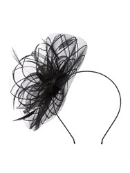 Linea Lottie Floral Fascinator Black