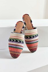 Urban Outfitters Woven Mule Green Multi