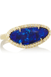 Kimberly Mcdonald 18 Karat Boulder Opal And Diamond Ring