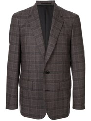 Kolor Plaid Fitted Blazer Brown