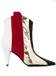 Marc Ellis Panelled Saloon Boots Red