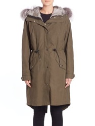 Andrew Marc New York Natalia Fur Trimmed Military Parka