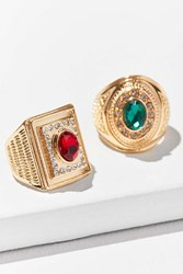 Urban Outfitters Collegiate Ring Set Red