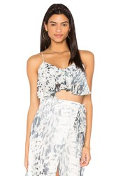 The Jetset Diaries Zambia Crop Top Gray