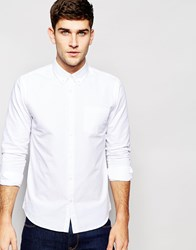 Jack Wills Shirt In White Oxford