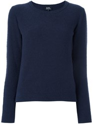A.P.C. Crew Neck Jumper Blue