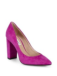 Saks Fifth Avenue Suede Pumps Violet