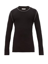 Eytys Incubus Wide Ribbed Sweater Black