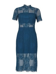 Izabel London Edwardian Laced Midi Dress Green
